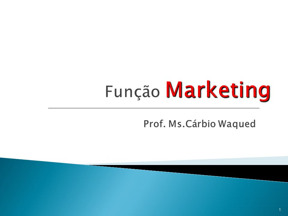 Função Marketing Prof. Ms.Cárbio Waqued