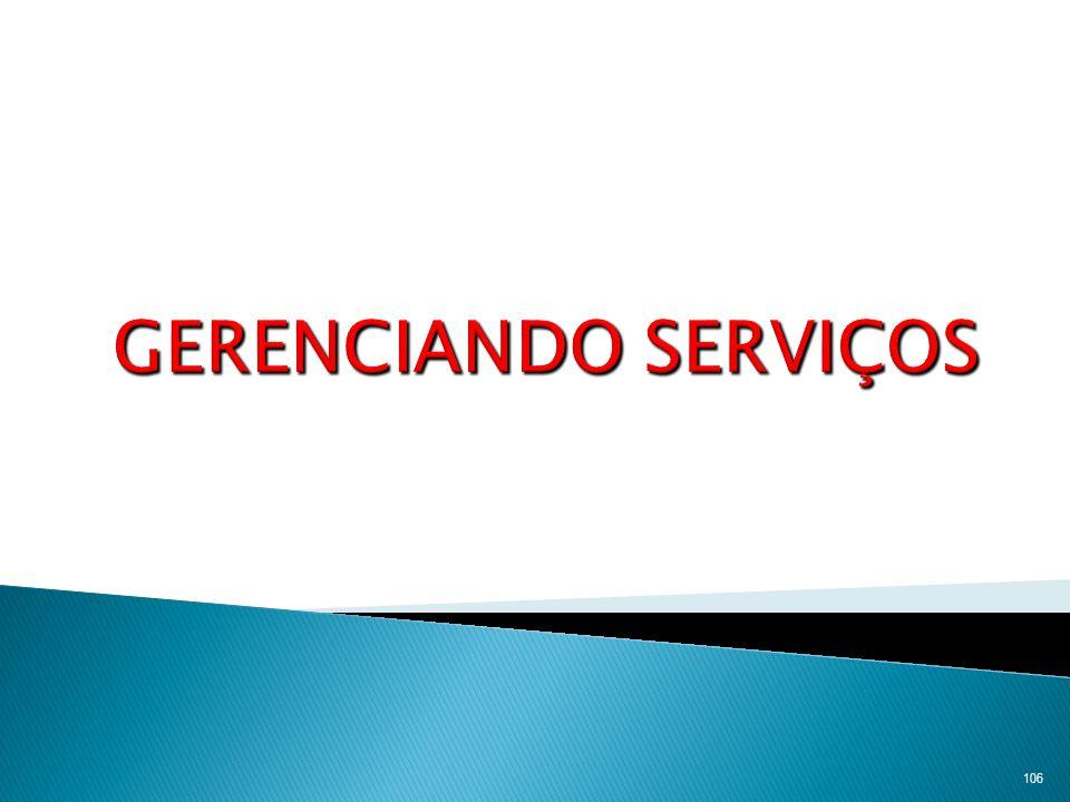 GERENCIANDO SERVIÇOS