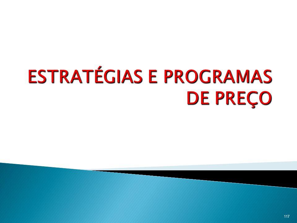 ESTRATÉGIAS E PROGRAMAS DE PREÇO