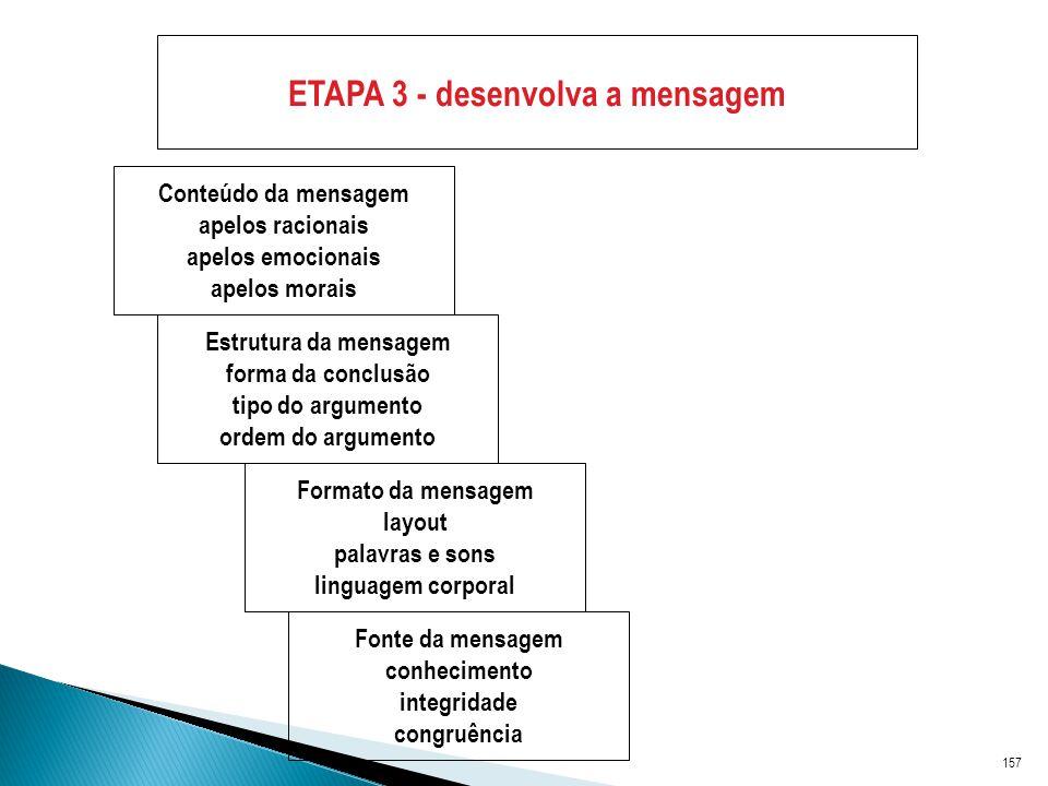 ETAPA 3 - desenvolva a mensagem