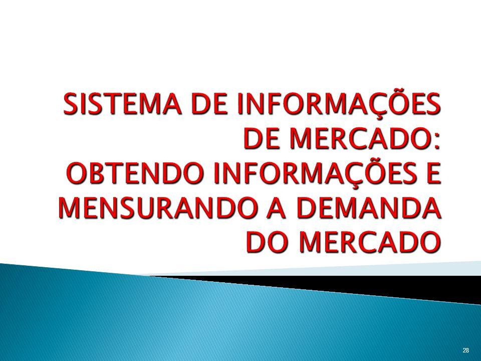 SISTEMA DE INFORMAÇÕES DE MERCADO: OBTENDO INFORMAÇÕES E MENSURANDO A DEMANDA DO MERCADO