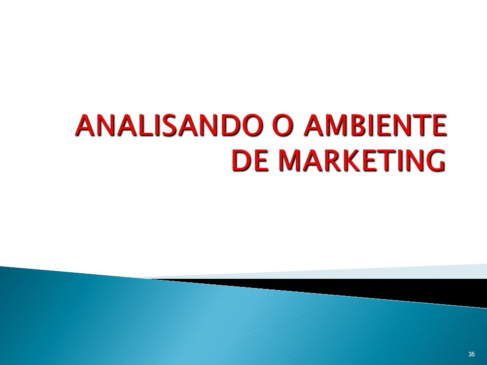 ANALISANDO O AMBIENTE DE MARKETING