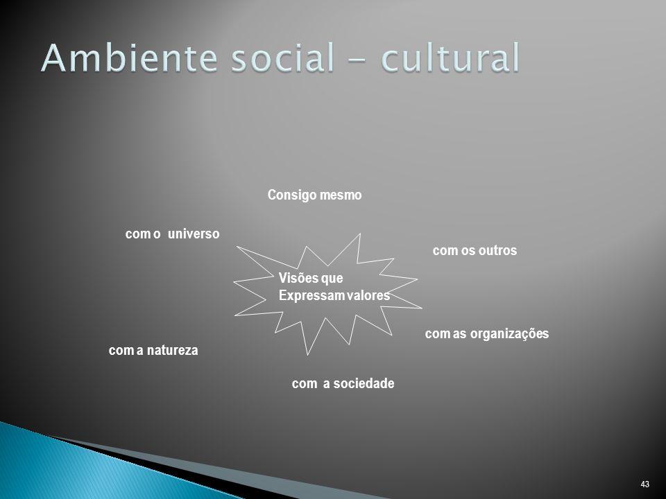 Ambiente social - cultural