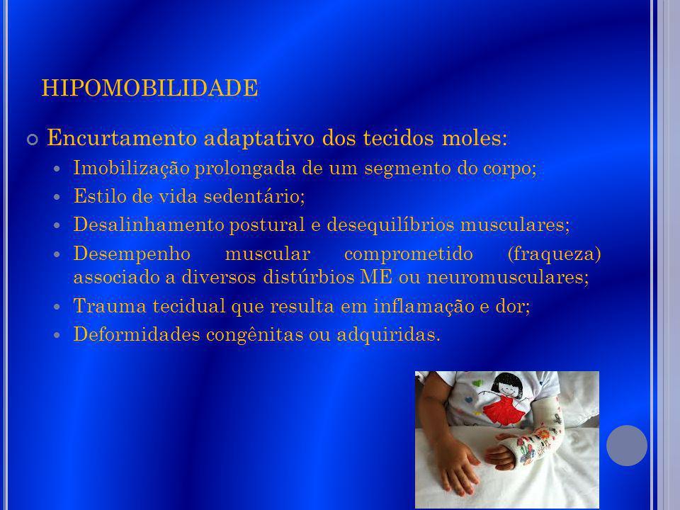 hipomobilidade Encurtamento adaptativo dos tecidos moles: