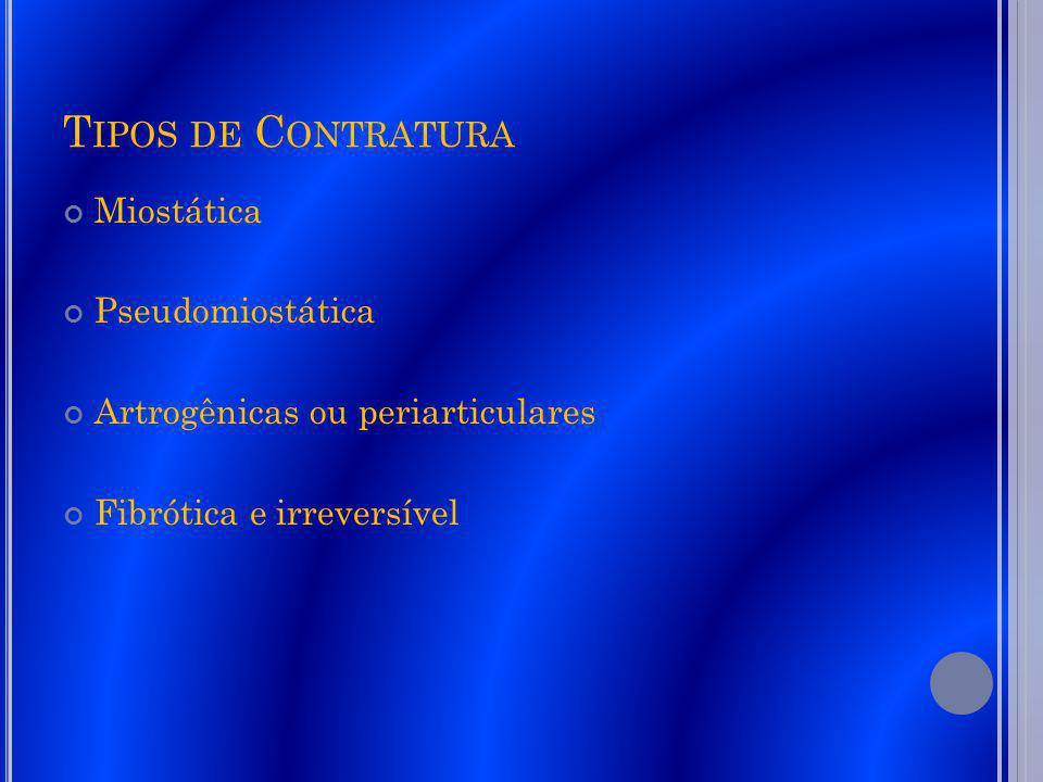 Tipos de Contratura Miostática Pseudomiostática