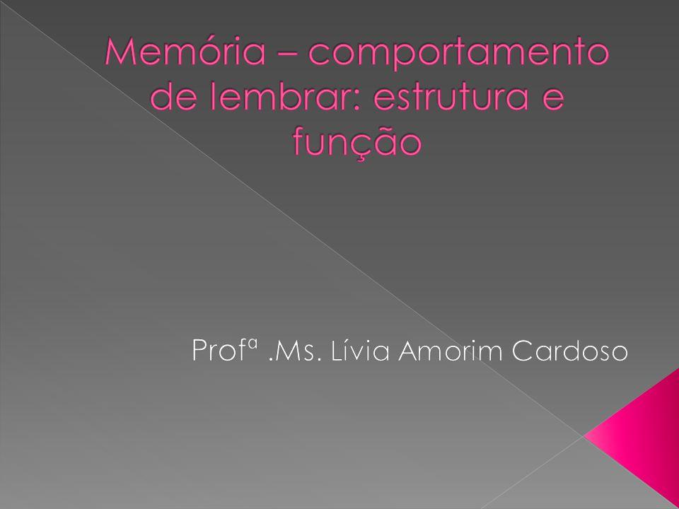 Memória – comportamento de lembrar: estrutura e função