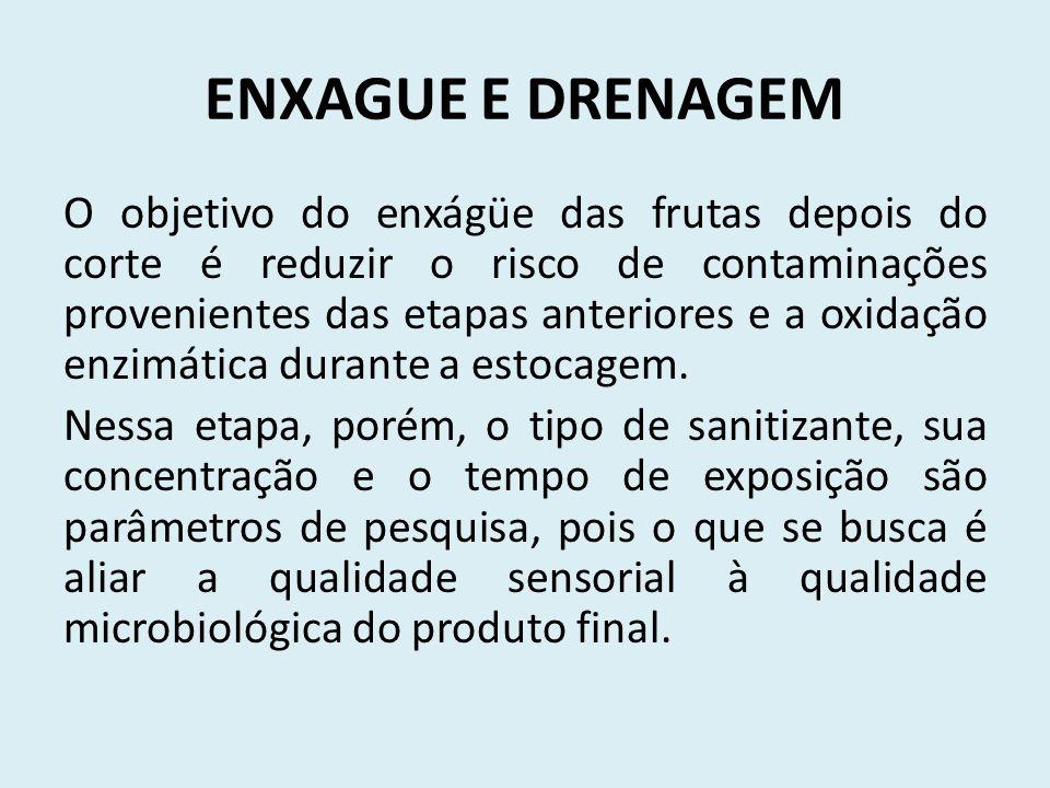 ENXAGUE E DRENAGEM