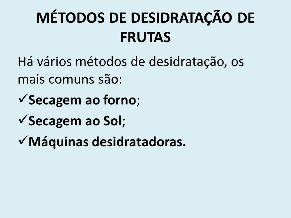 MÉTODOS DE DESIDRATAÇÃO DE FRUTAS
