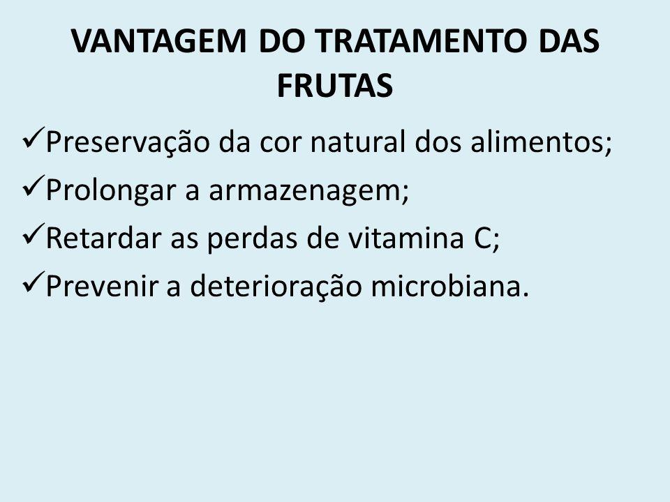 VANTAGEM DO TRATAMENTO DAS FRUTAS