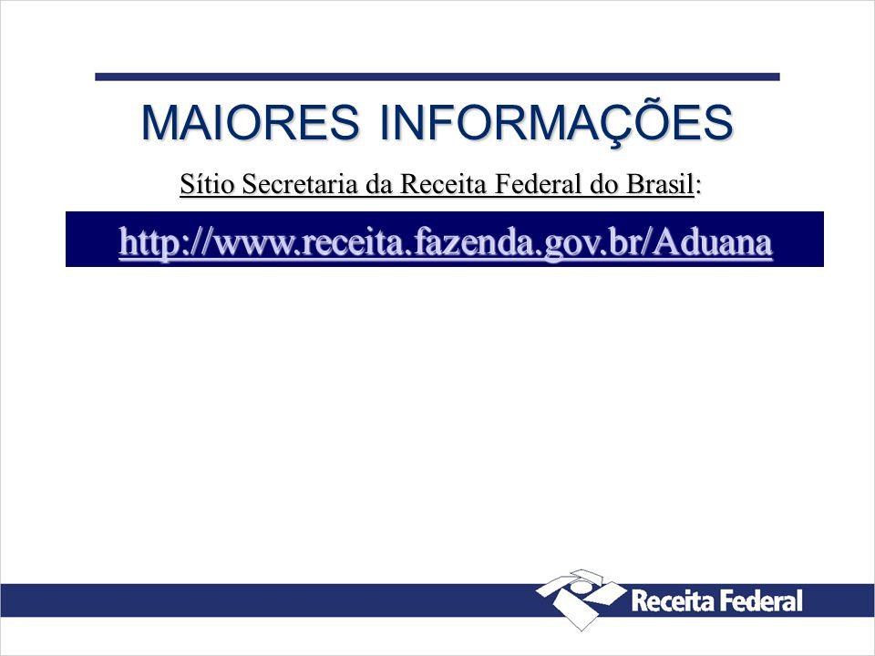 Sítio Secretaria da Receita Federal do Brasil: