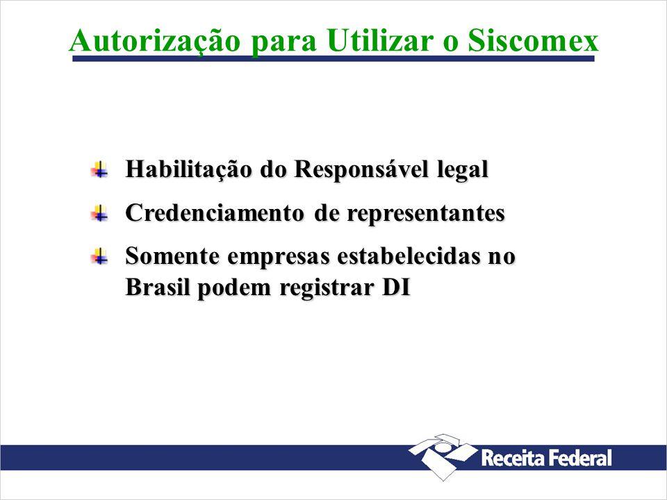 Autorização para Utilizar o Siscomex