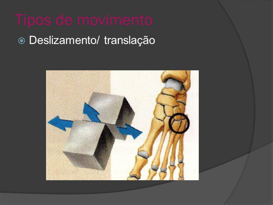 Tipos de movimento Deslizamento/ translação