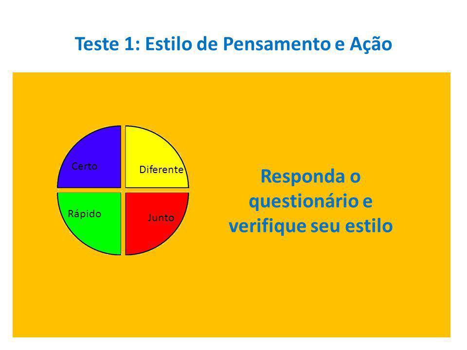 Teste 1: Estilo de Pensamento e Ação