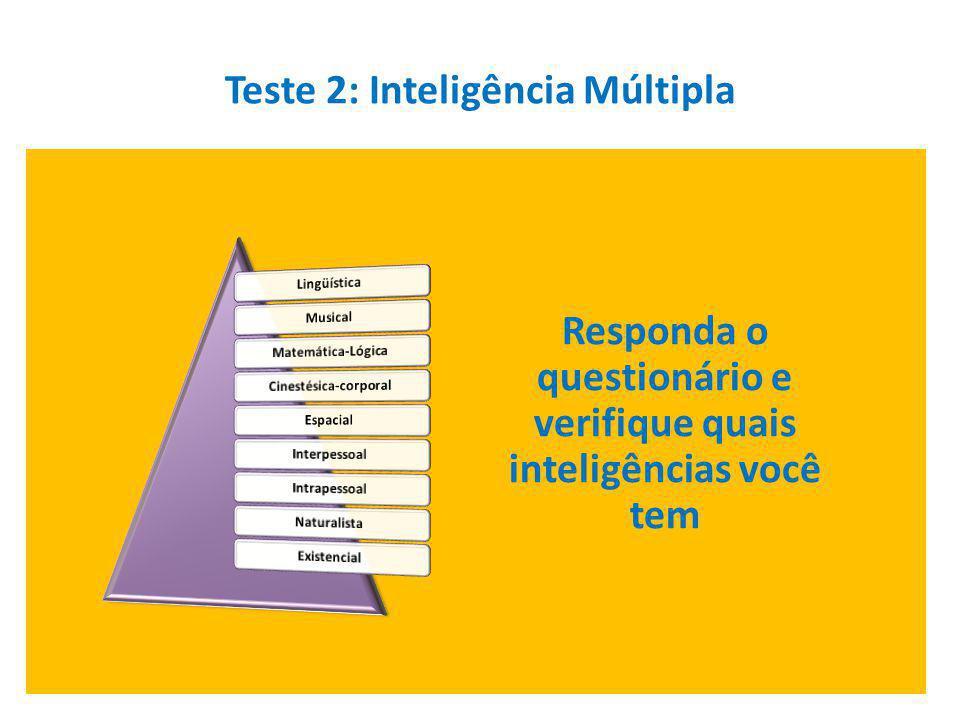 Teste 2: Inteligência Múltipla