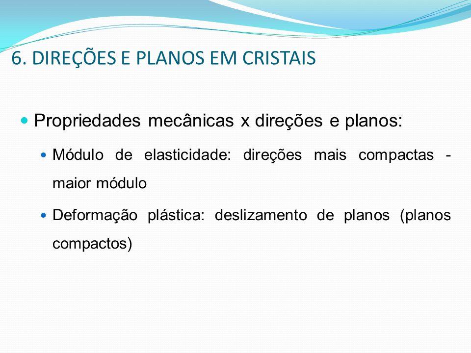 6. DIREÇÕES E PLANOS EM CRISTAIS