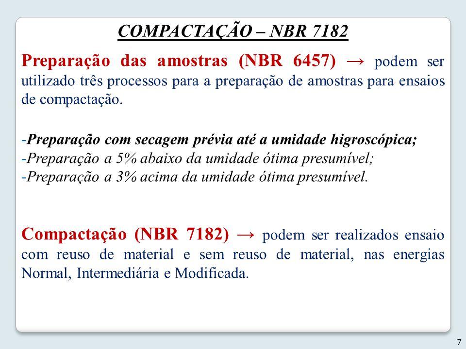 COMPACTAÇÃO – NBR 7182