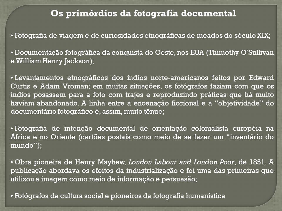 Os primórdios da fotografia documental