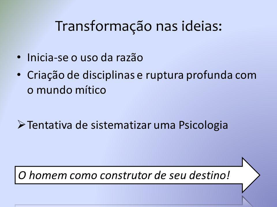 Transformação nas ideias: