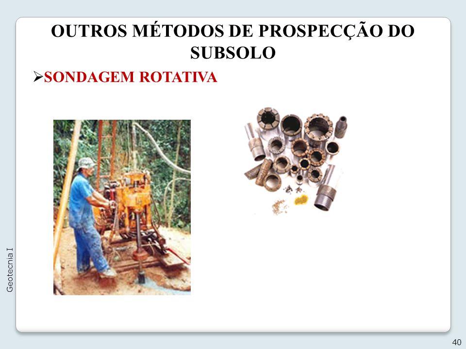 OUTROS MÉTODOS DE PROSPECÇÃO DO SUBSOLO