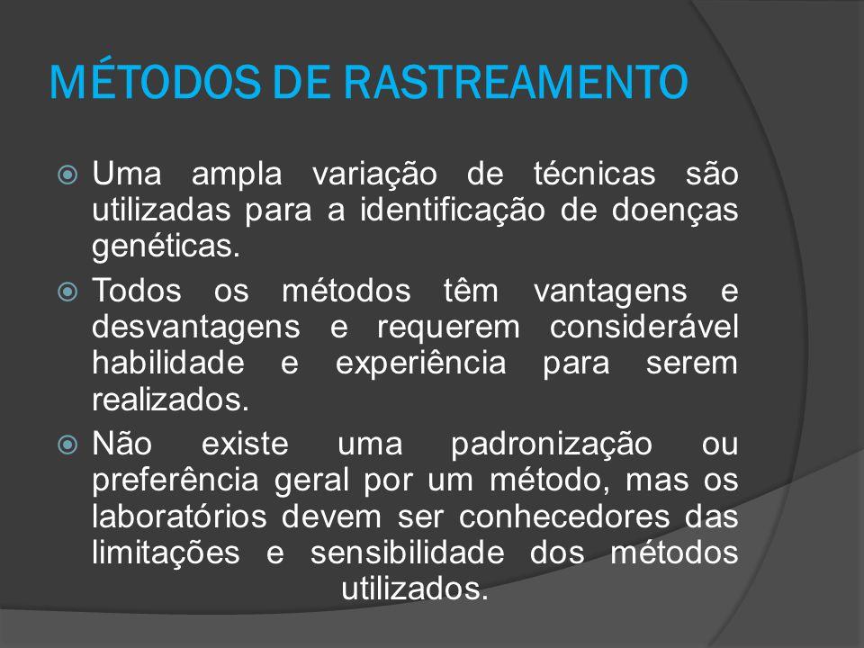 MÉTODOS DE RASTREAMENTO