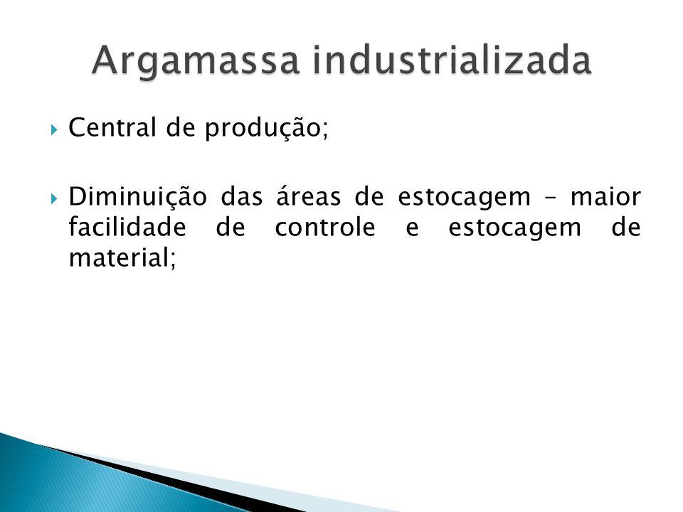 Argamassa industrializada