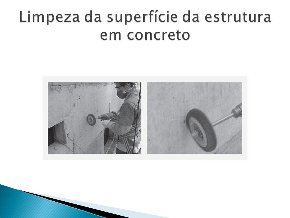 Limpeza da superfície da estrutura em concreto