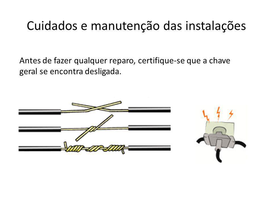 Cuidados e manutenção das instalações