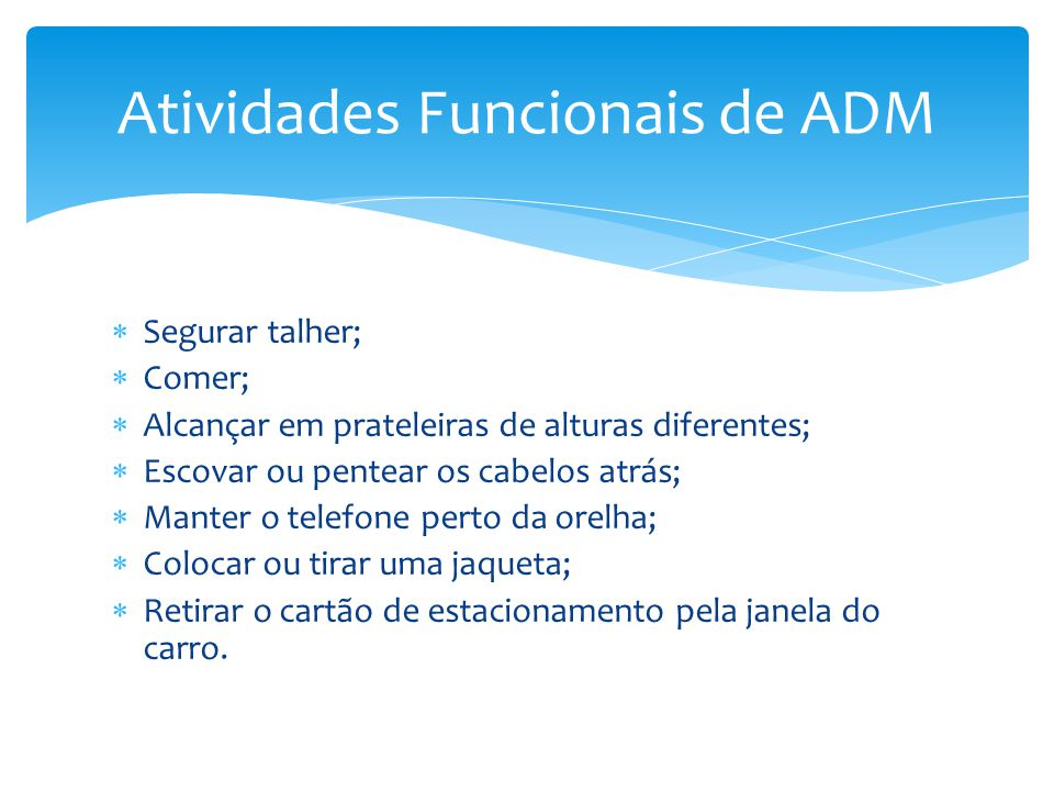 Atividades Funcionais de ADM
