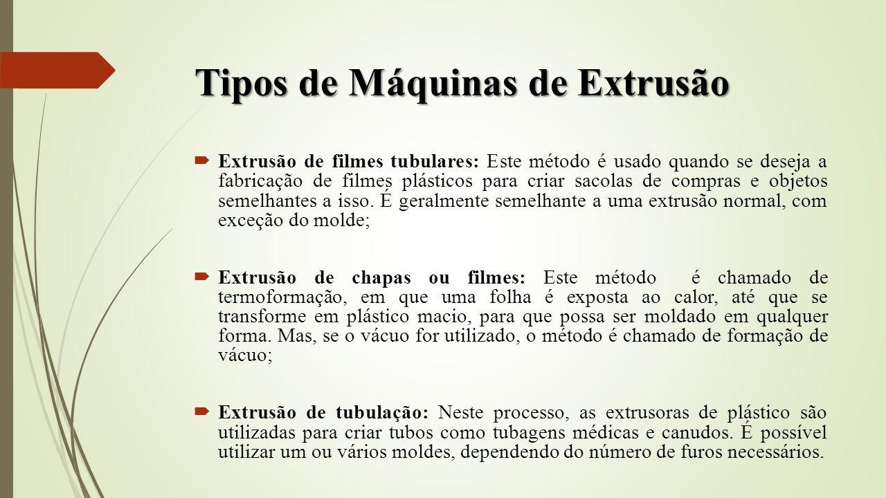 Tipos de Máquinas de Extrusão