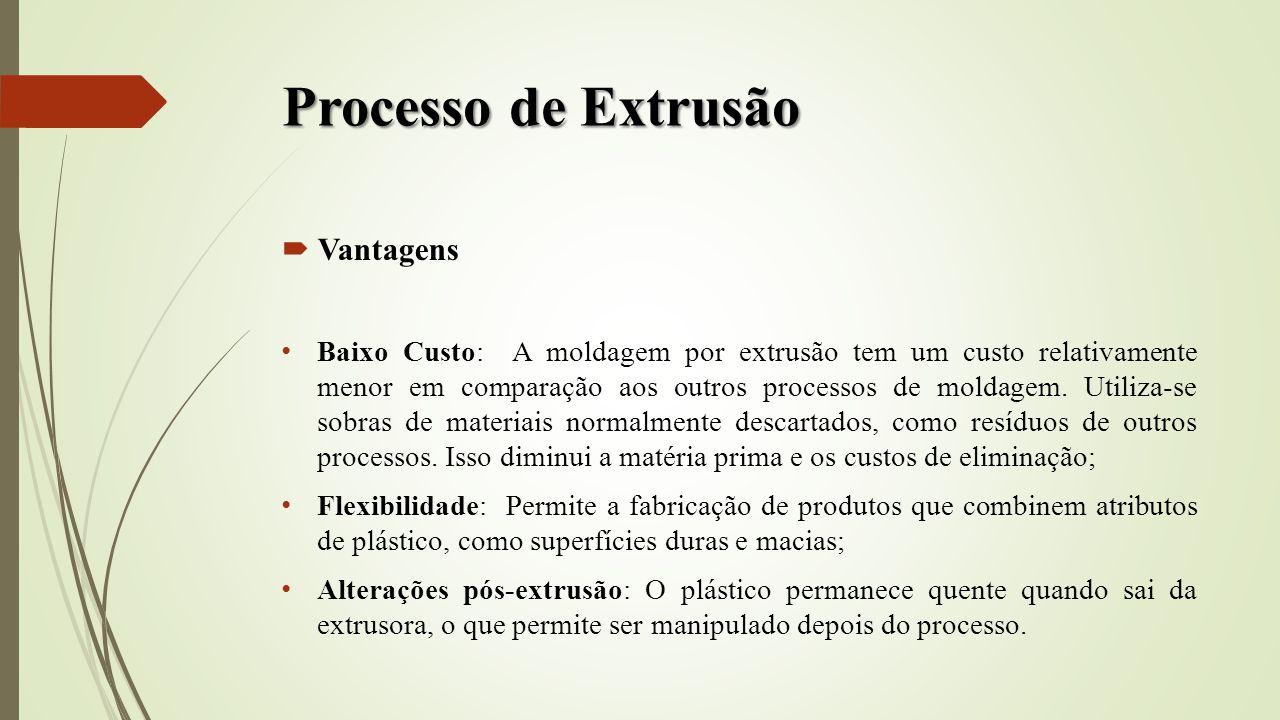 Processo de Extrusão Vantagens