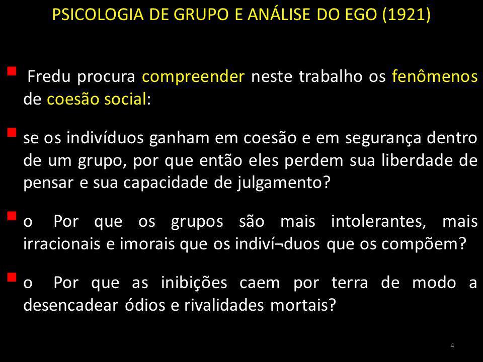 PSICOLOGIA DE GRUPO E ANÁLISE DO EGO (1921)