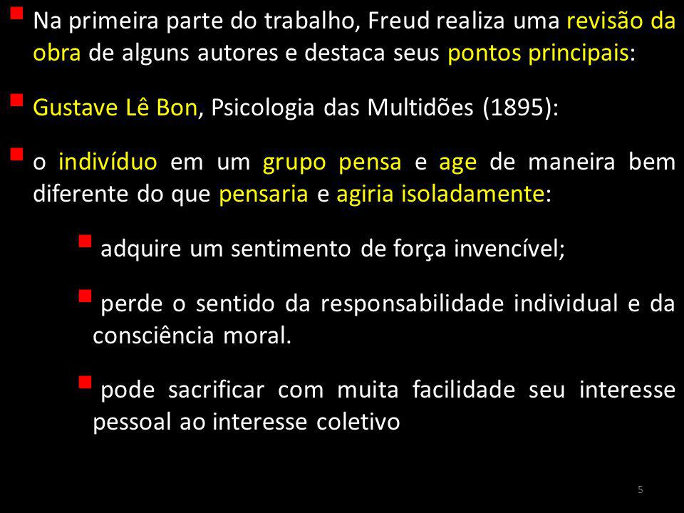 Gustave Lê Bon, Psicologia das Multidões (1895):
