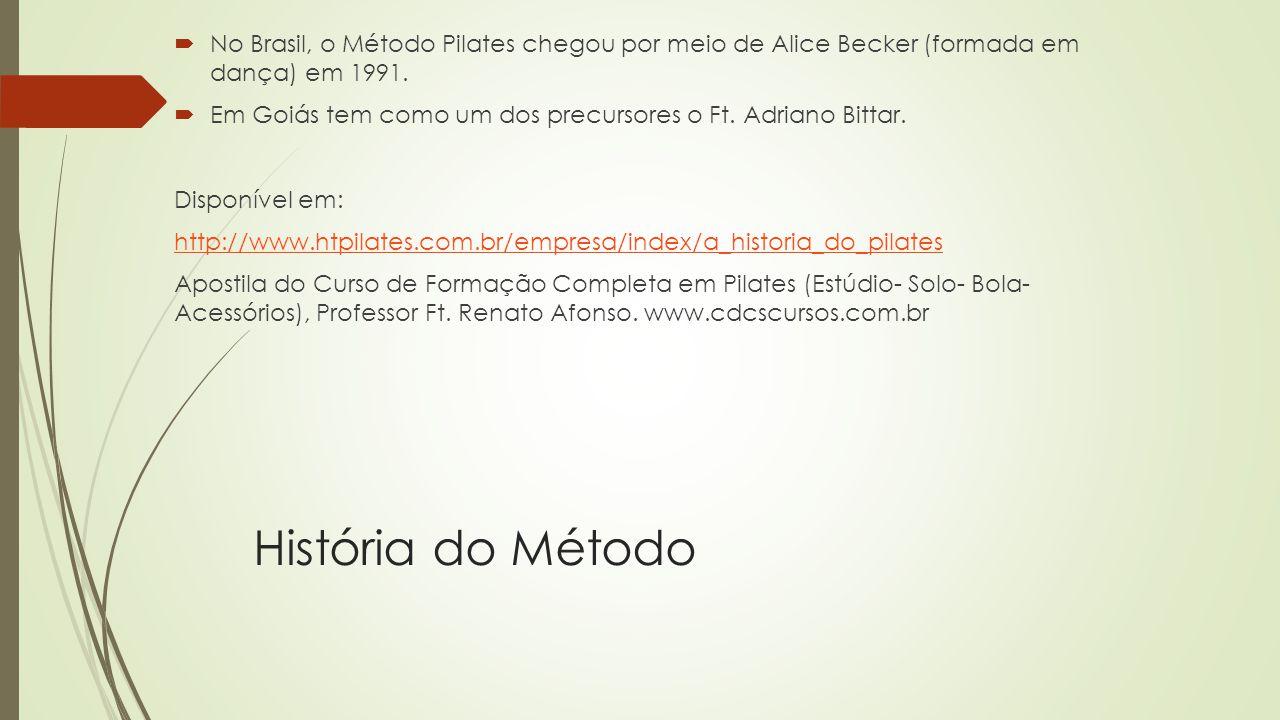 No Brasil, o Método Pilates chegou por meio de Alice Becker (formada em dança) em 1991.