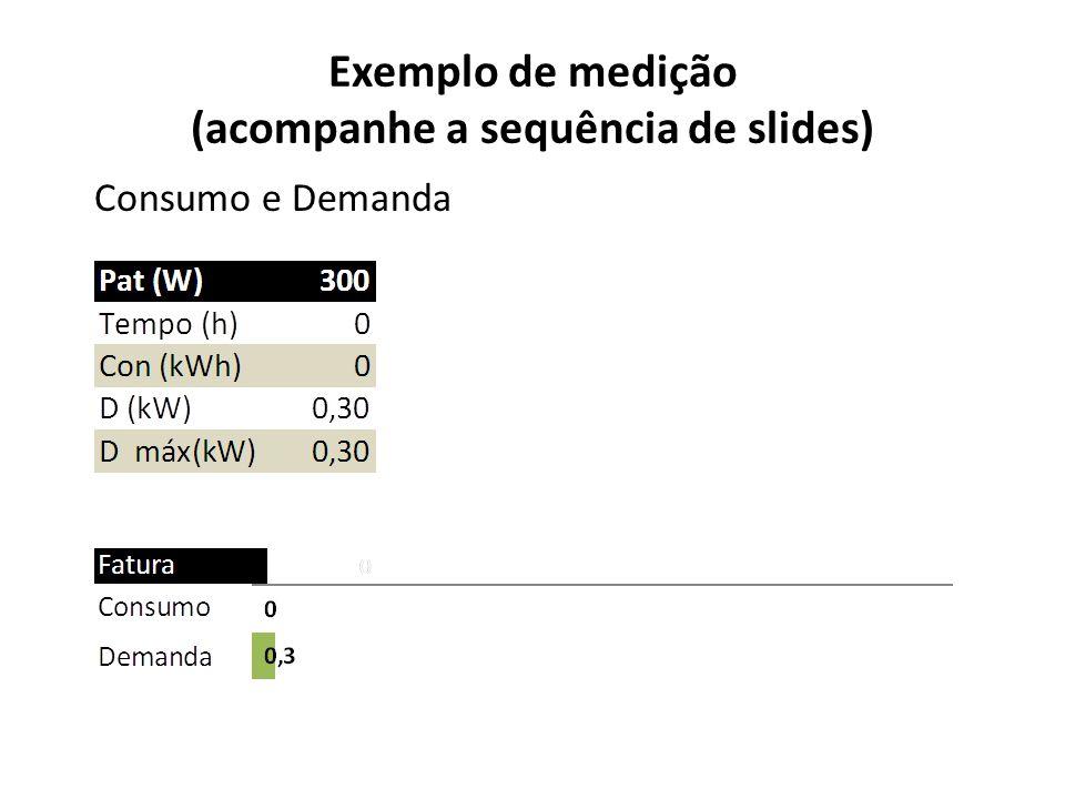 Exemplo de medição (acompanhe a sequência de slides)
