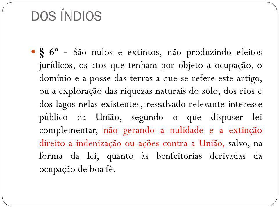 DOS ÍNDIOS