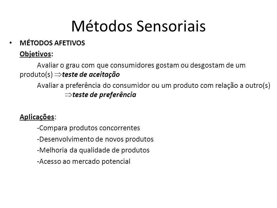Métodos Sensoriais MÉTODOS AFETIVOS Objetivos: