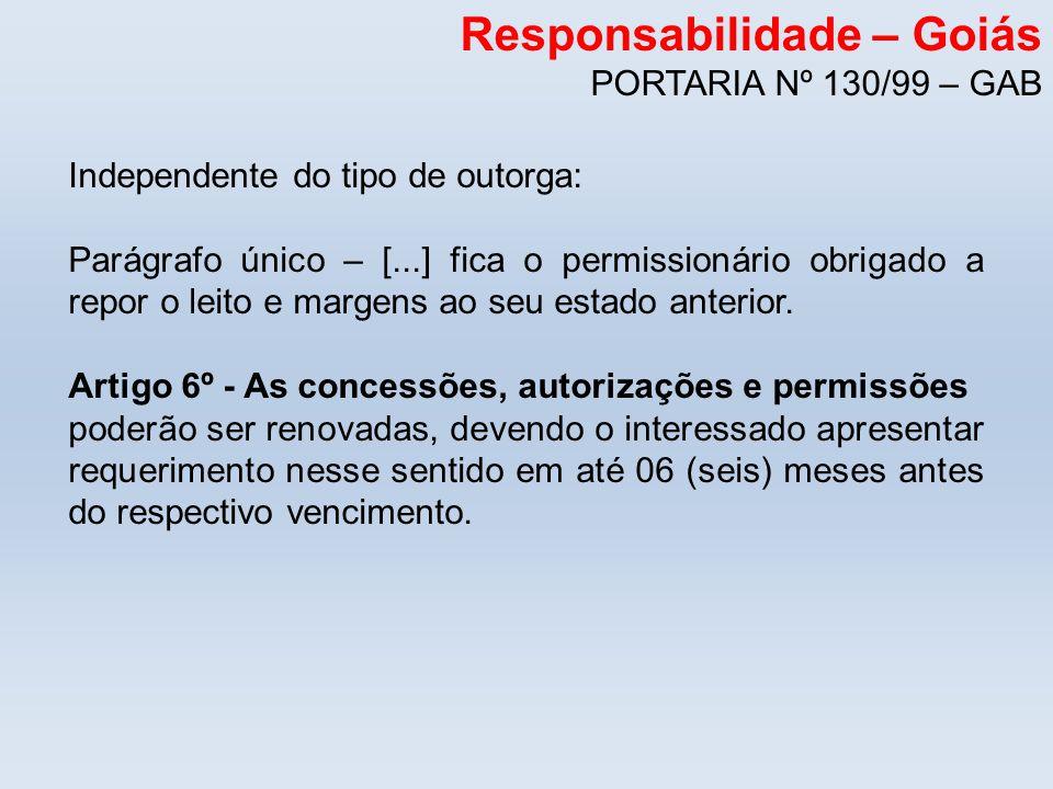 Responsabilidade – Goiás