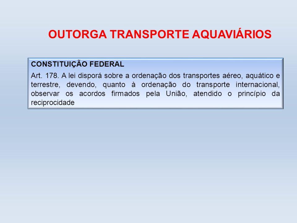 OUTORGA TRANSPORTE AQUAVIÁRIOS
