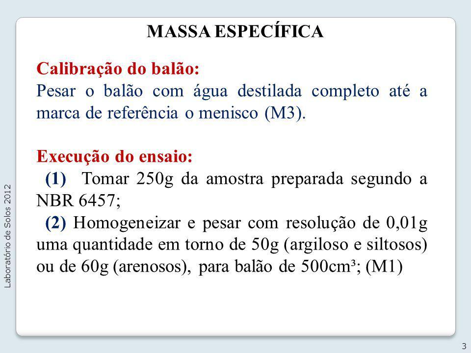 (1) Tomar 250g da amostra preparada segundo a NBR 6457;