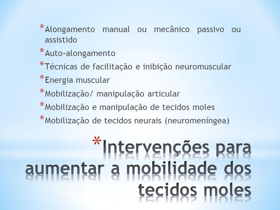 Intervenções para aumentar a mobilidade dos tecidos moles
