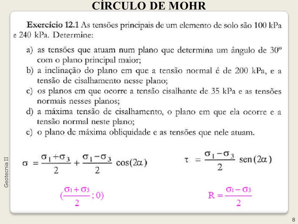 CÍRCULO DE MOHR Geotecnia II