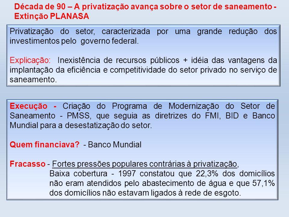 Quem financiava - Banco Mundial