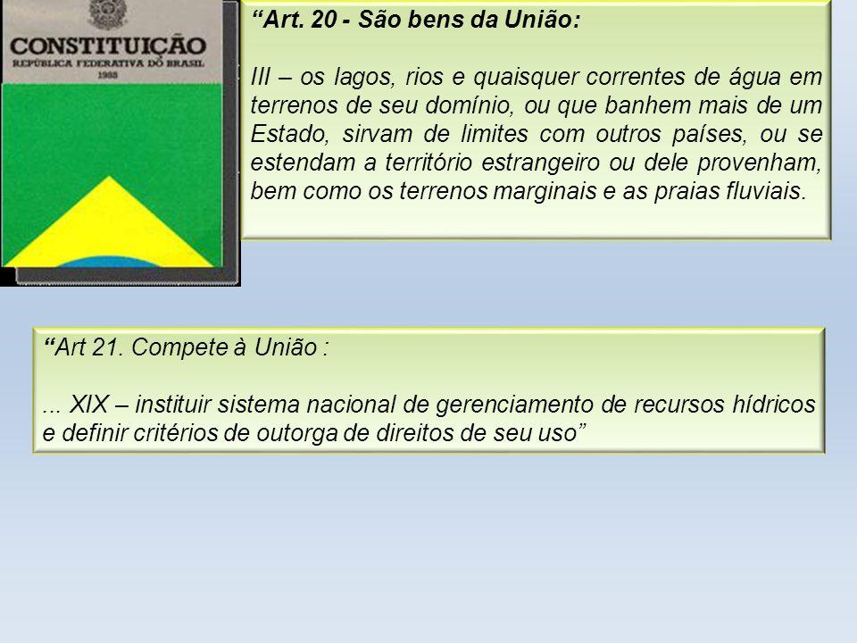 Art. 20 - São bens da União: