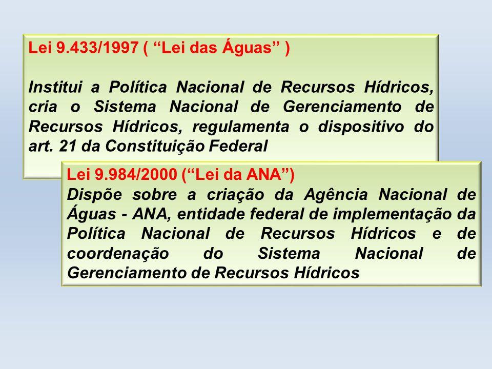 Lei 9.433/1997 ( Lei das Águas )