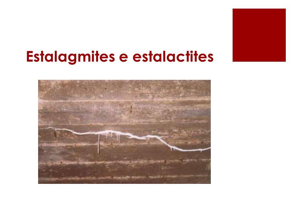 Estalagmites e estalactites