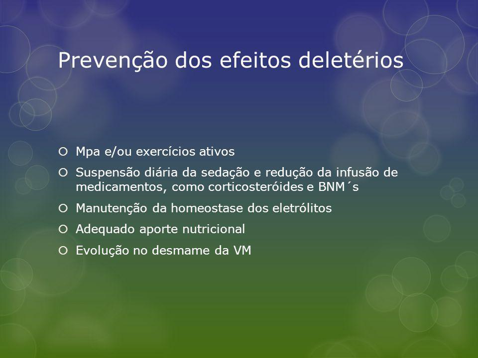Prevenção dos efeitos deletérios