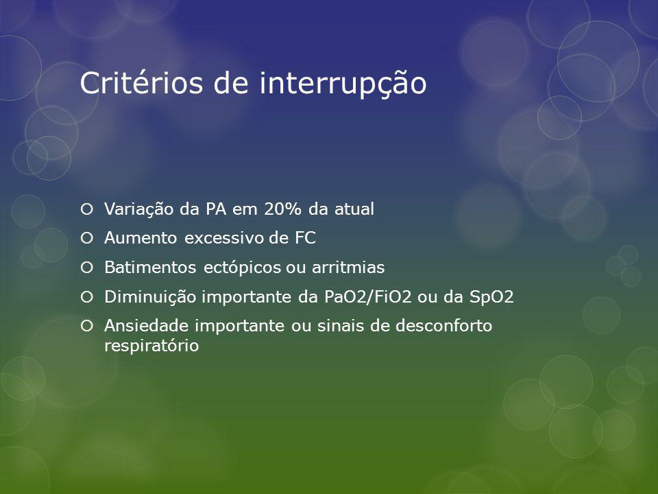 Critérios de interrupção
