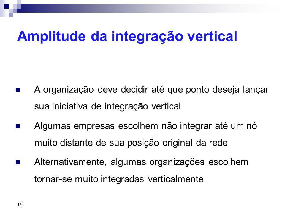 Amplitude da integração vertical