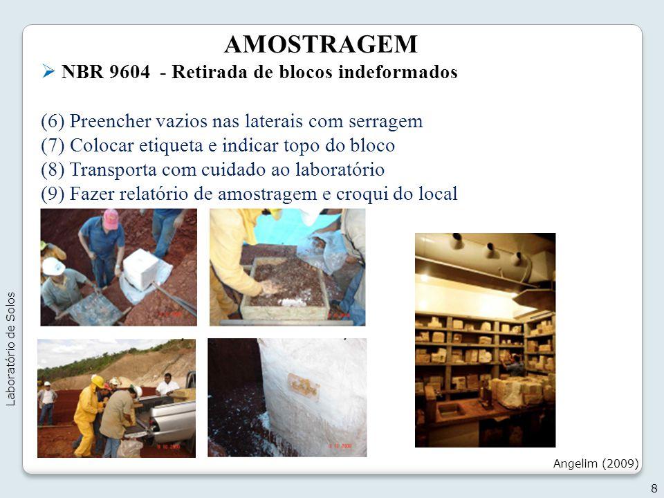 AMOSTRAGEM NBR 9604 - Retirada de blocos indeformados