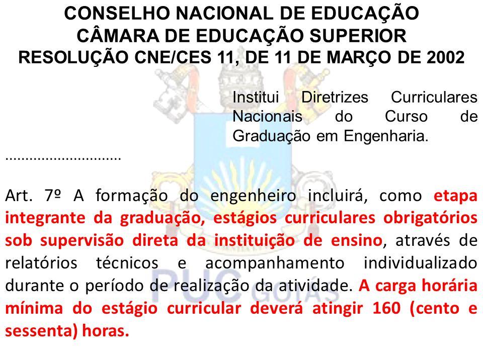 CONSELHO NACIONAL DE EDUCAÇÃO CÂMARA DE EDUCAÇÃO SUPERIOR